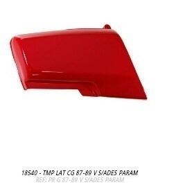 tampa lateral cg 87 a 89 vermelho par s/adesivo