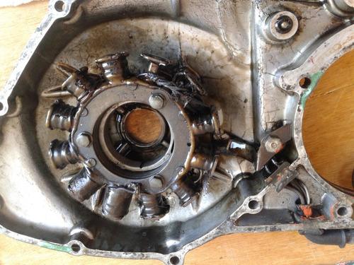 tampa lateral do motor honda xl250r 1982