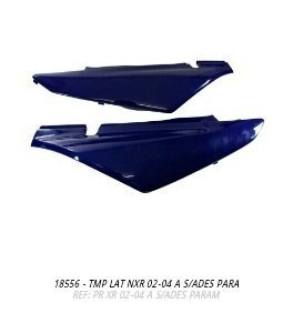 tampa lateral nxr bros 2002 a 2004 azul par s/adesivo