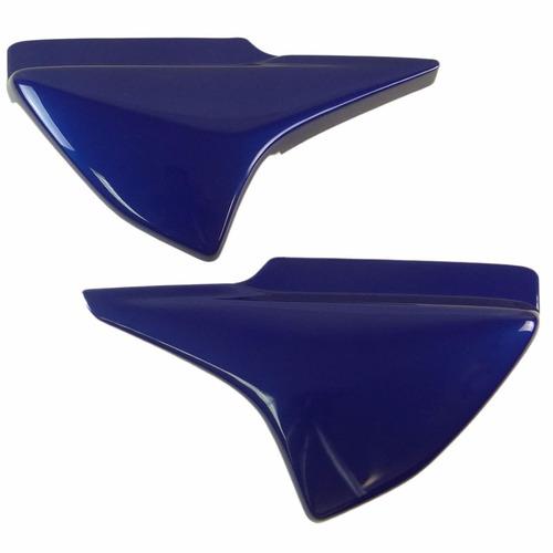 tampa lateral (par) honda titan 150 - azul 2007