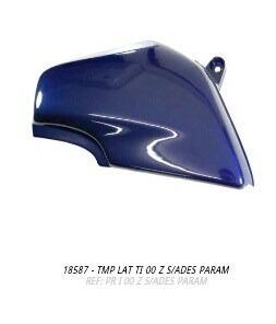 tampa lateral titan 2000 azul par s/adesivo