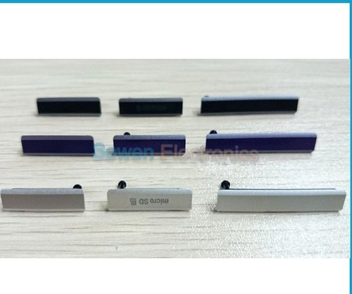 tampa lateral usb original xperia z1 c6903 c6943 + brinde