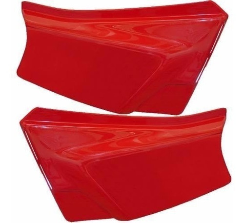 tampa lateral  xl 125 cor vermelho 88   sem adesivo o par