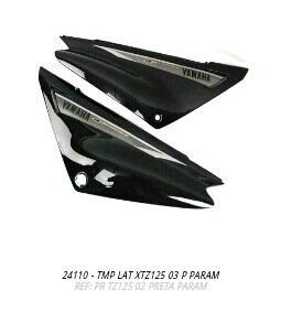 tampa lateral yamaha xtz125 2003 preto par