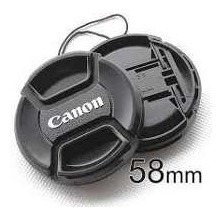 tampa lente 18-55 canon 58mm t2i t3i t4i t5i lc-58 + corda