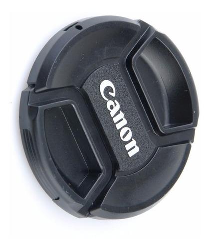 tampa lente 52mm c/ logo da canon 50mm es-62