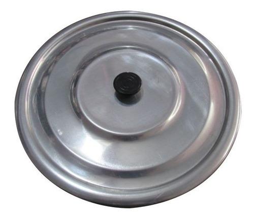 tampa panela caçarola e caldeirão em alumínio n°36 com pomel