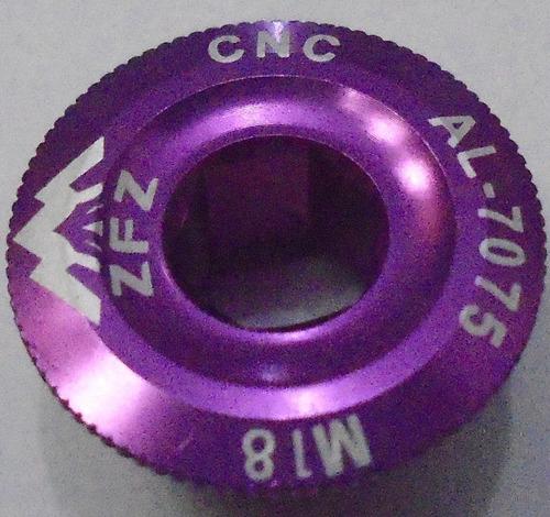 tampa tampinha pedivela hollowtech lilas cnc al-7075  m18.