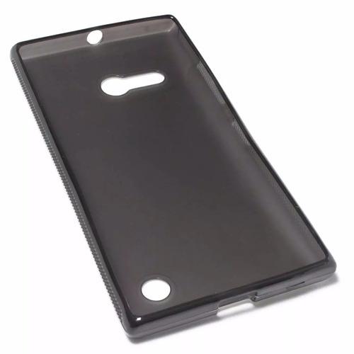 tampa traseira celular lumia 730 + pelicula vidro 735 + capa
