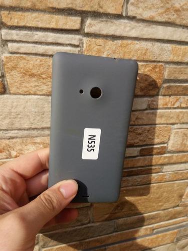 tampa traseira nokia lumia 535 + película de vidro + capa