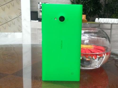 tampa traseira original nokia lumia 730 laranja verde branca