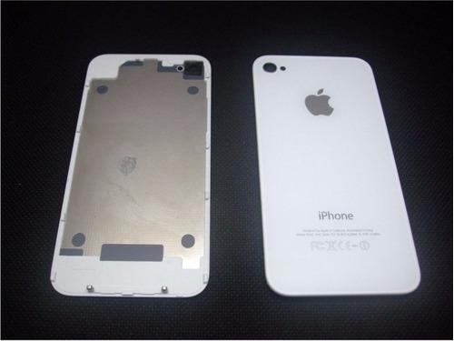 tampa traseira vidro fundo apple iphone 4 branco