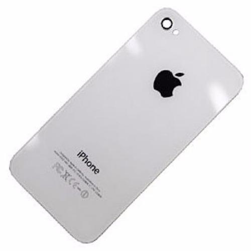 tampa traseira vidro fundo para iphone 4 branco