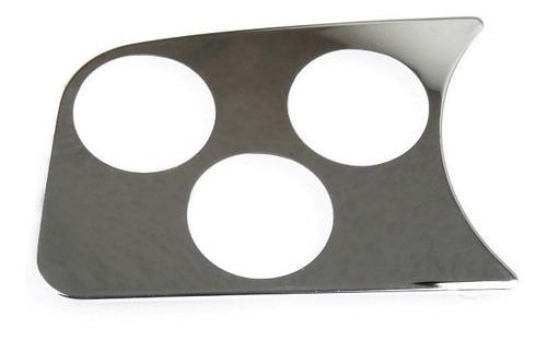 tampa tuning cromada p/ painel fusca 3 relógios 52mm esquerd