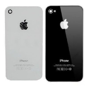 tampa vidro traseira apple iphone 4 4s preto branco original