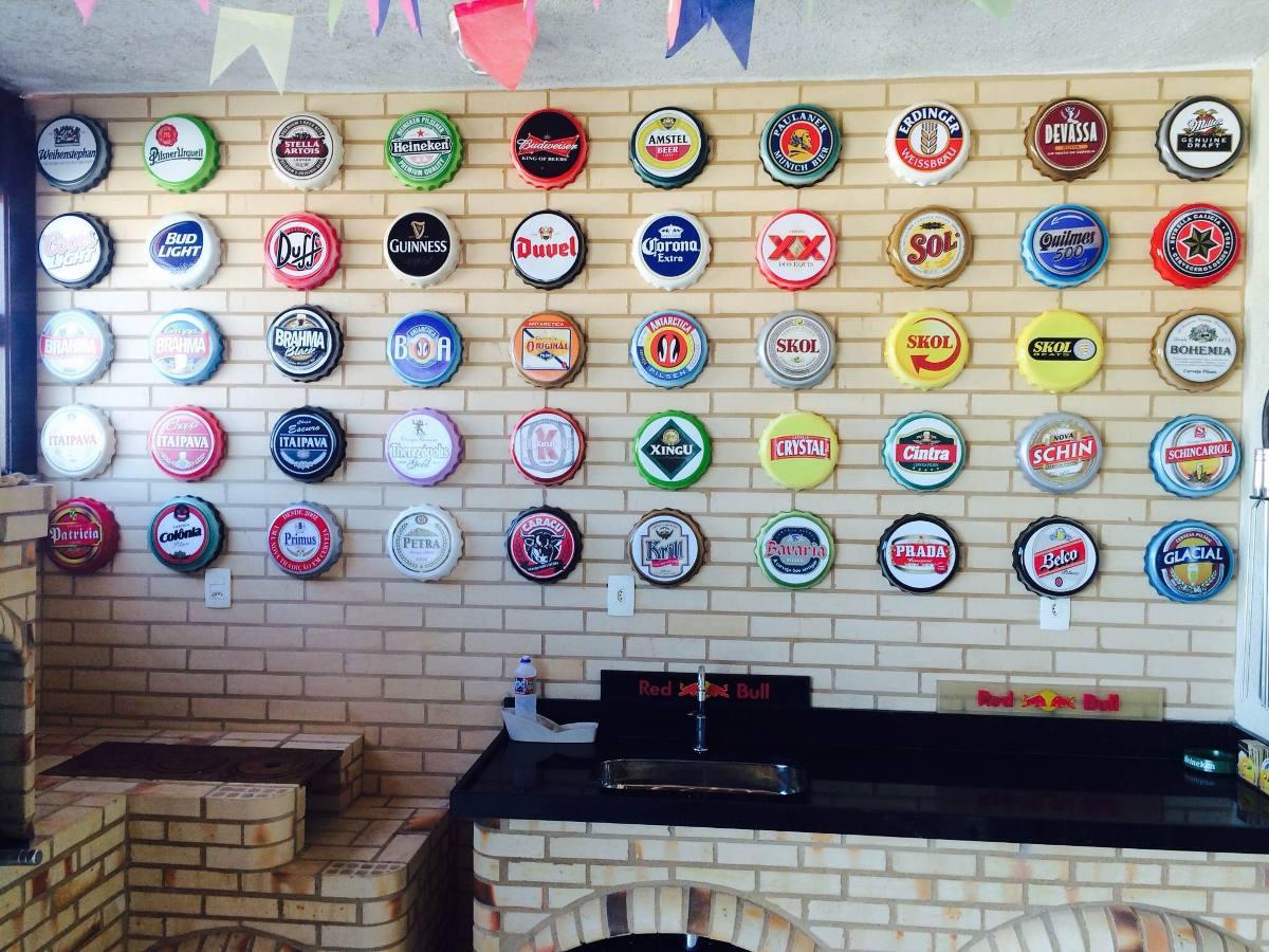 Tampinhas Cervejas Decora O Espa O Gourmet Churrasqueiras R 59