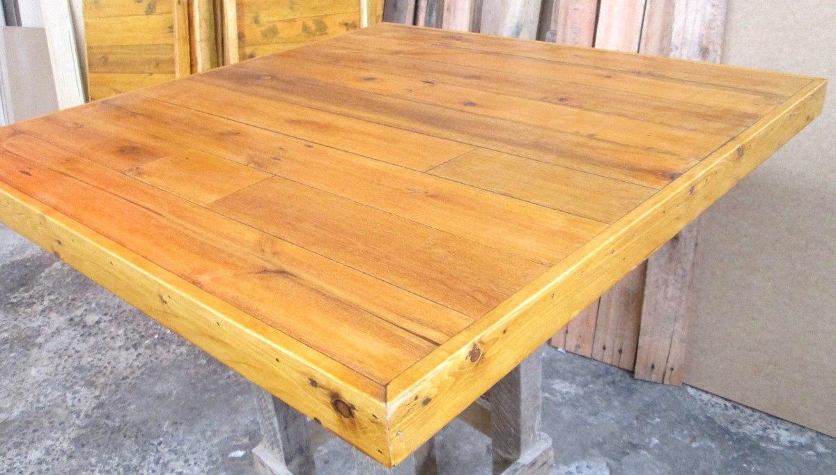 Tampo de mesa de madeira reciclada de pallet r 200 00 for Mesa de pallet