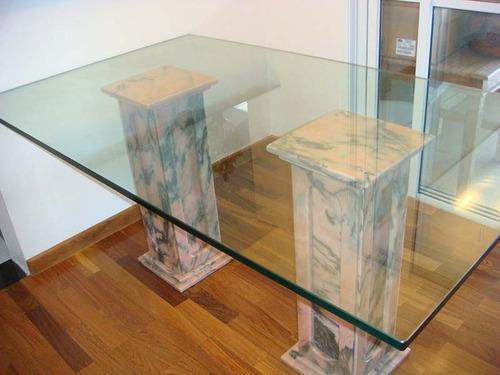 tampo de mesa vidro grosso incolor 19mm 2.40 x 1.20 bisote