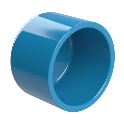 tampão final femea - cap p/ tubo irrigação azul dn 150mm