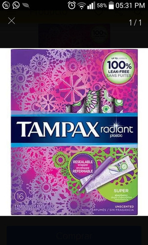 tampones marca radiant