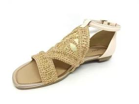 c62b46880 Sandália Rasteira Tanara N6242 - Calçados, Roupas e Bolsas com o Melhores  Preços no Mercado Livre Brasil