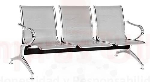 tandem 3 puestos silla de espera garantia 3 años por escrito