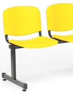 tandem de 3 sillas pvc  antideslizante anatómicas