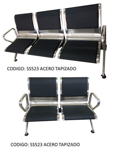 tandem sillas de espera tipo aeropuerto bipersonal colores