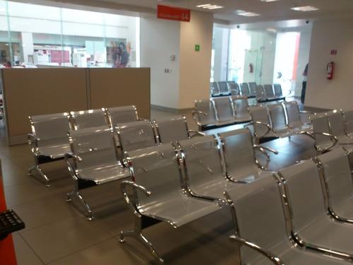 Tandem sillas de espera tipo aeropuerto oficina for Sillas de oficina usadas