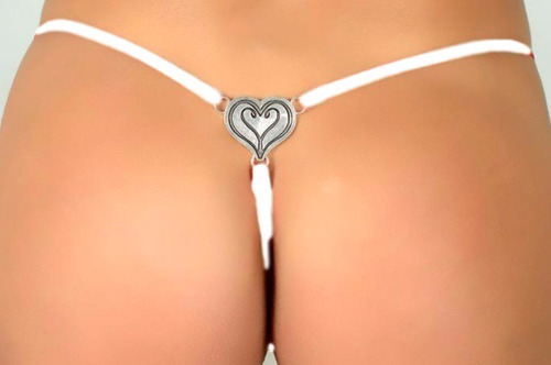 tanga corazon 632 cola less lencería sexy erótica