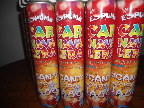 tangana / espuma para fiestas y carnavales