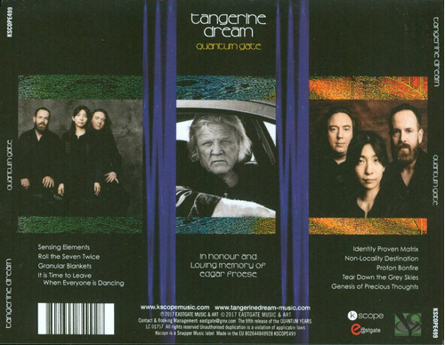 tangerine dream cd quantum gate 2017 europa cerrado stock