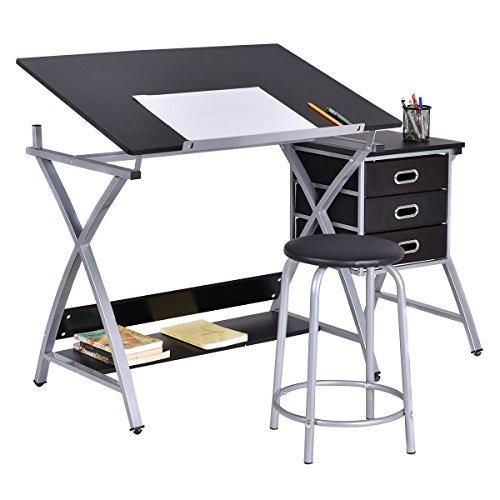 tangkula mesa de dibujo arte y artesanía escritorio de dibu