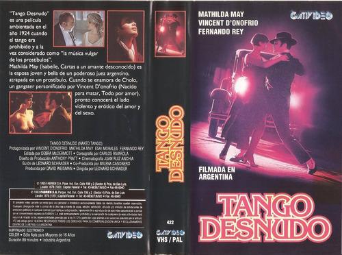 tango desnudo vhs filmada en argentina fernando rey rareza