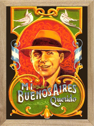 tango gardel fileteado cuadros poster cartel l729