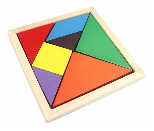 tangram de madera didactico juguete de madera