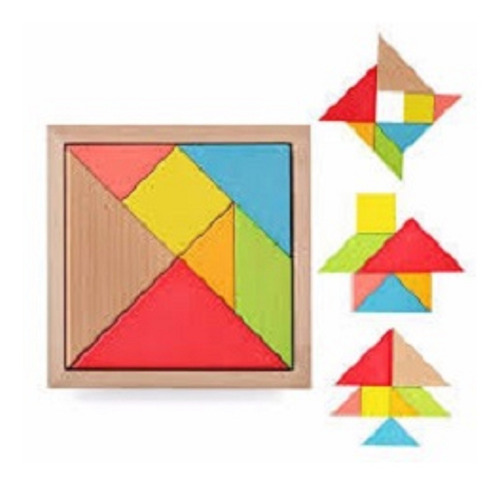 tangram de madera  tangram didactico juguete de madera