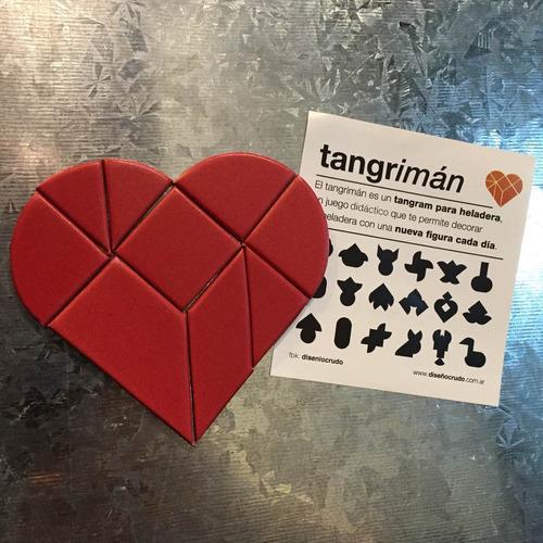 tangriman corazón / tangram imantado.