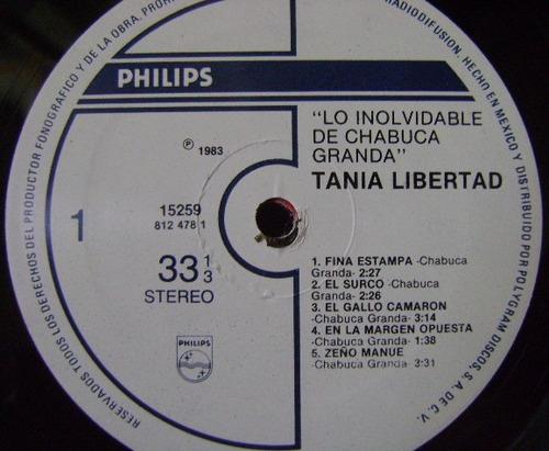 tania libertad / lo inolvidable de chabuca 1 disco lp vinilo