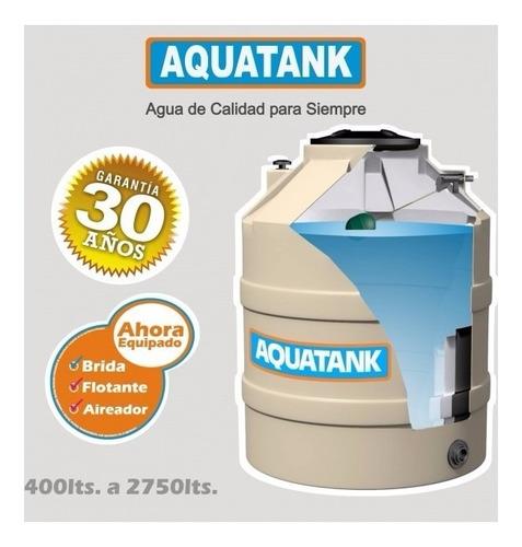 tanque agua aquantank 1100 lt con flotante, brida y aireador