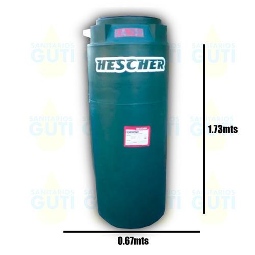 tanque agua hescher bicapa alto 700lts verde base bomba auto