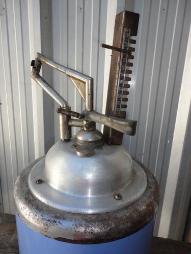 tanque antiguo de alcohol esmaltado casi sin uso consulte