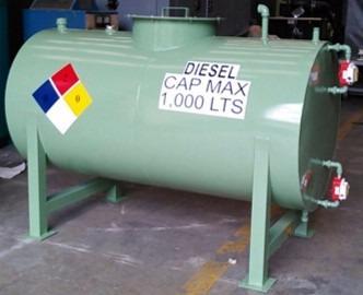 Tanque cilindrico para diesel horizontal o vertical 200 for Precio estanque