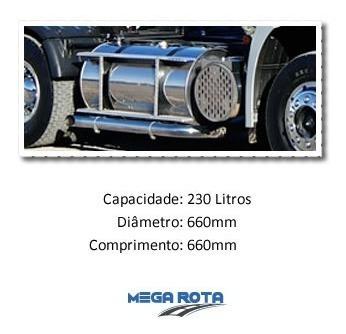 tanque combustível inox caminhão scania highline 230 litros
