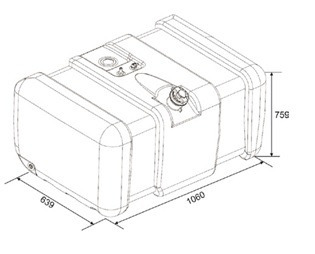 tanque combustível plástico vw 310 litros