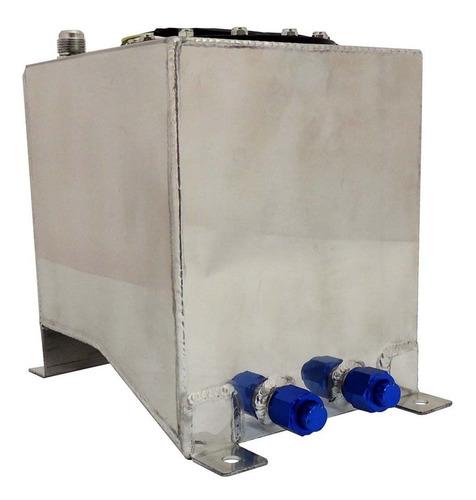 tanque combustível surge tank alumínio 10l c/ bóia elétrica