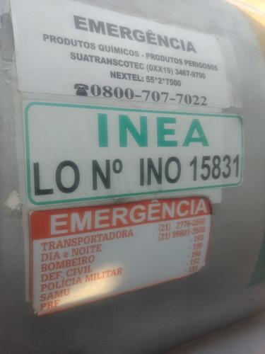 tanque de 15.000 litros carregava oleo lubrificante ok