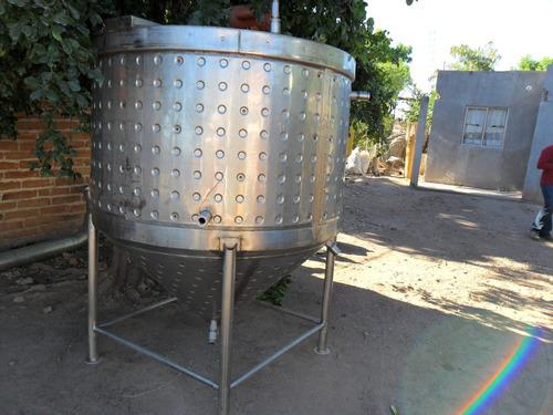tanque de acero inox,cilindrico vertical conico con agitador