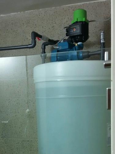 tanque de agua 520 lt con motor, tuberias e instalación