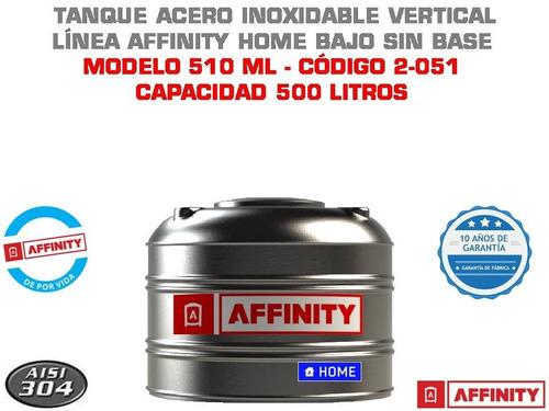 tanque de agua acero inoxidable affinity home 500 litros